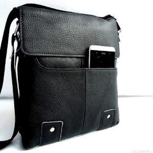 full Leather Shoulder men Bag