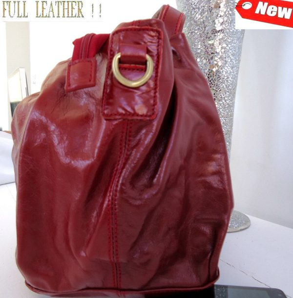 oft top leather woman bag