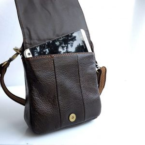 full Leather Shoulder Satchel Bag