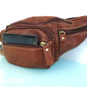 Leather Bag man Pouch Fanny Pack
